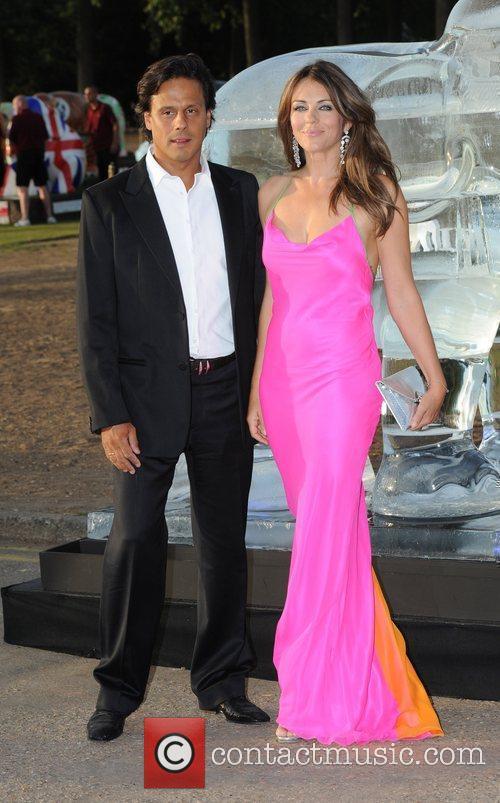 Liz Hurley and Arun Nayar Elephant Parade -...