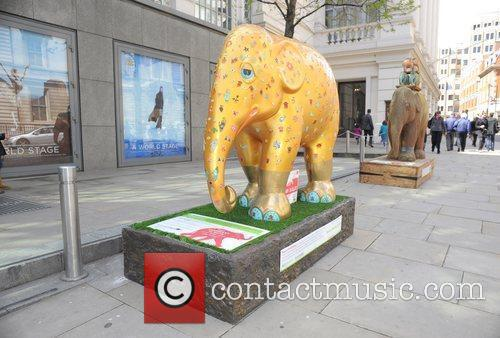 250 brightly painted model elephants have been installed...