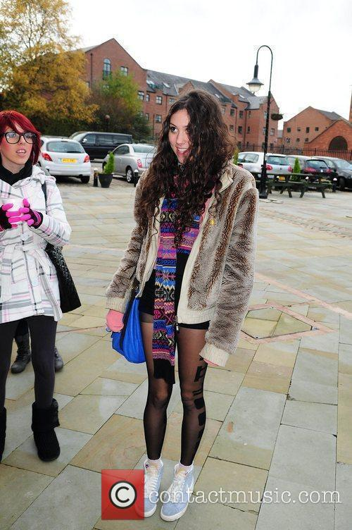 Eliza Doolittle arrives at Key 103 Radio Station...