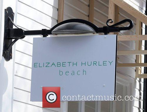 Store Sign Opening of Elizabeth Hurley Beach Boutique...