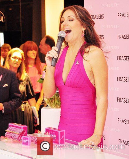 Elizabeth Hurley promotes Estee Lauder Breast Cancer Awareness...