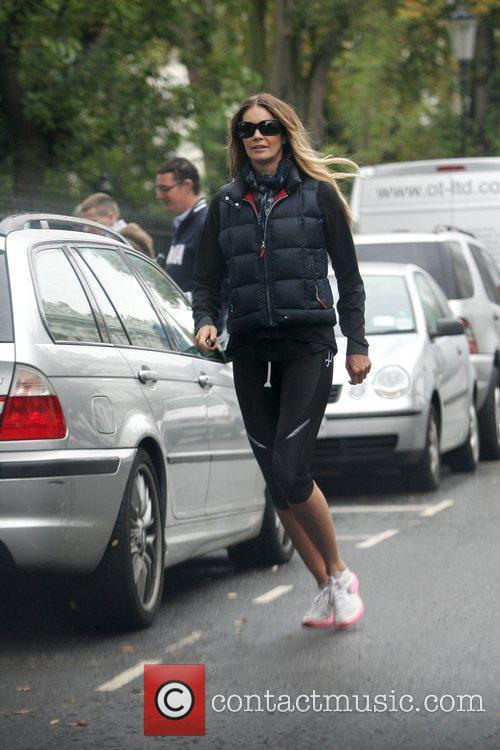 Elle Macpherson after dropping her son at school...