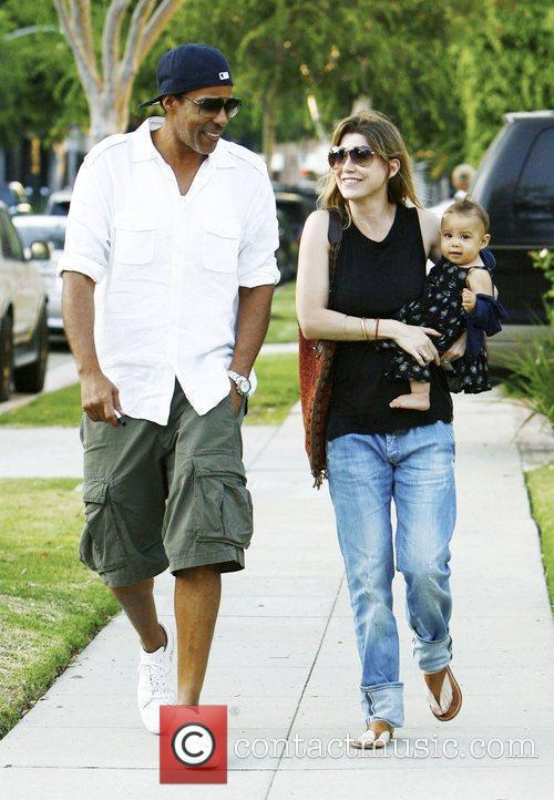 Ellen Pompeo and Chris Ivery With Their Daughter Stella Luna Were Spotted Leaving A Friends Home In Beverly Hills 5
