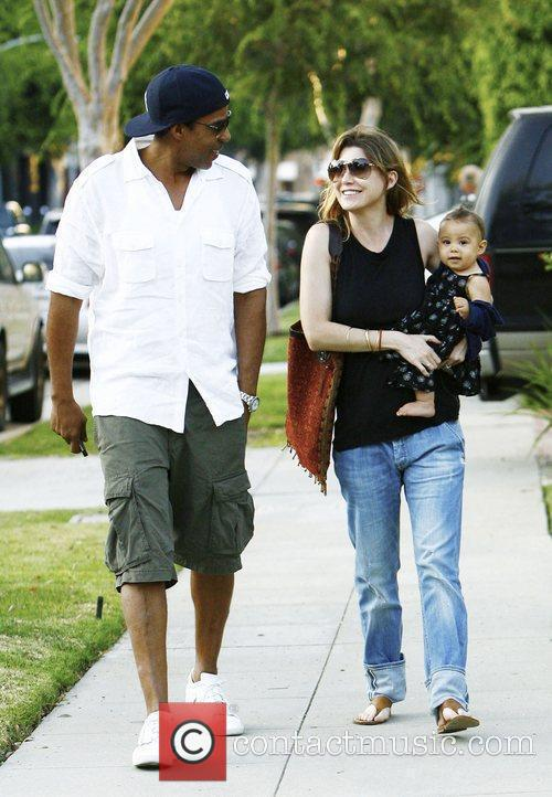 Ellen Pompeo and Chris Ivery With Their Daughter Stella Luna Were Spotted Leaving A Friends Home In Beverly Hills 2