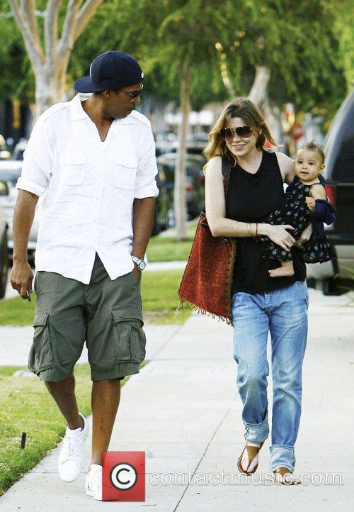 Ellen Pompeo and Chris Ivery with their daughter...
