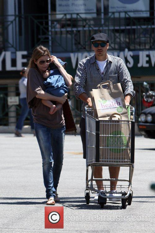 Ellen Pompeo and daughter Stella Ivery seen shopping...