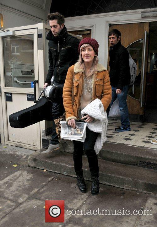 Ellie Goulding leaving the BBC Maida Vale studios...