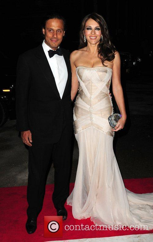 Elizabeth Hurley and Arun Nayar Elton John Aids...