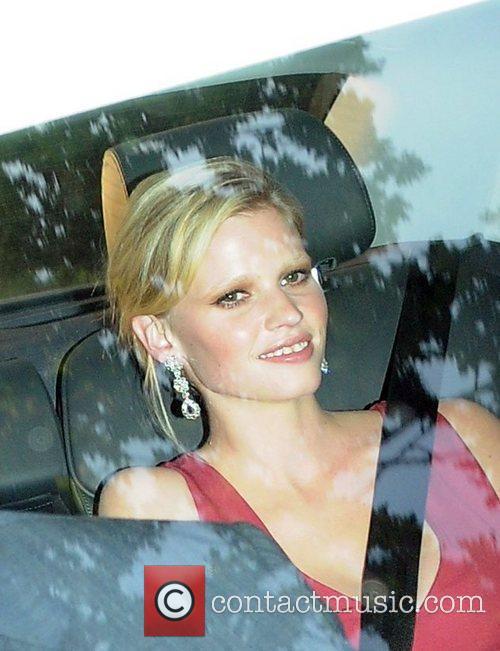 David Walliams' wife Lara Stone Celebrities arriving for...