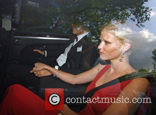 David Walliams and wife Lara Stone Celebrities arriving...