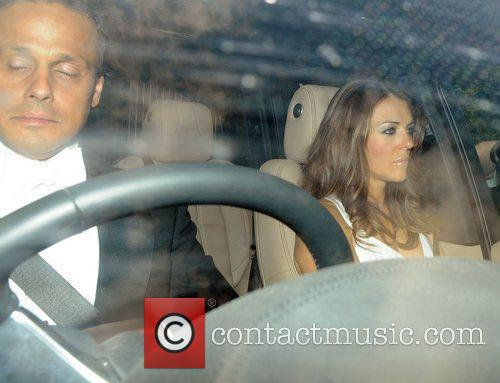 Elizabeth Hurley and Arun Nayar Celebrities arriving for...