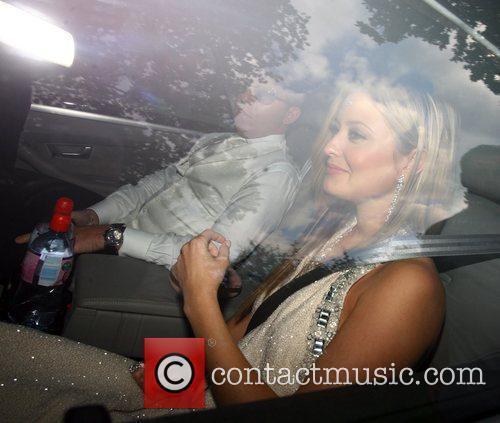 Holly Vallance Celebrities arriving for Elton John's White...