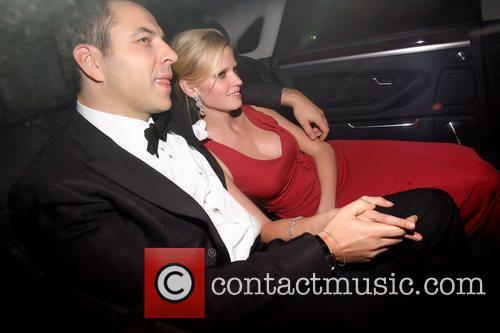 David Walliams and Lara Stone  Celebrities leaving...