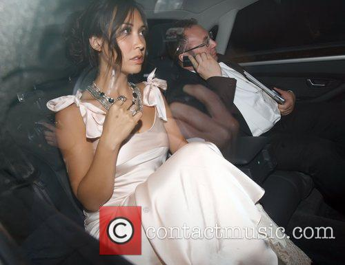 Myleene Klass  Celebrities leaving Elton John's White...