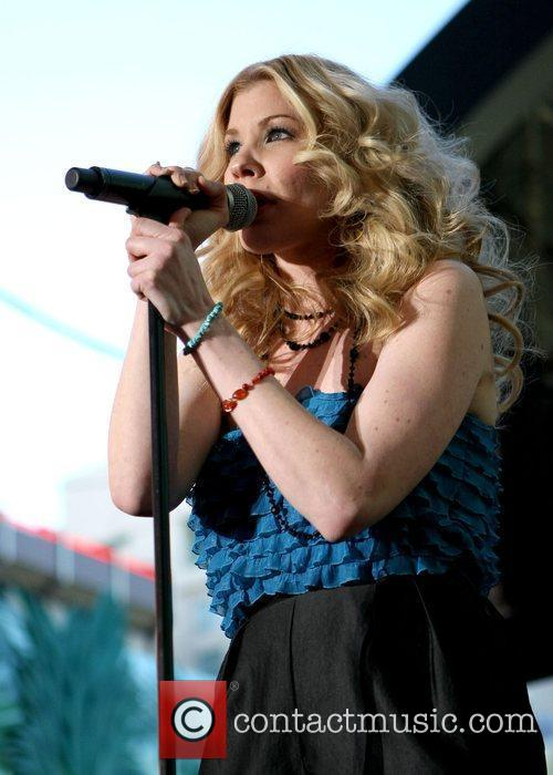 Emily West performing at the ACM Weekend on...