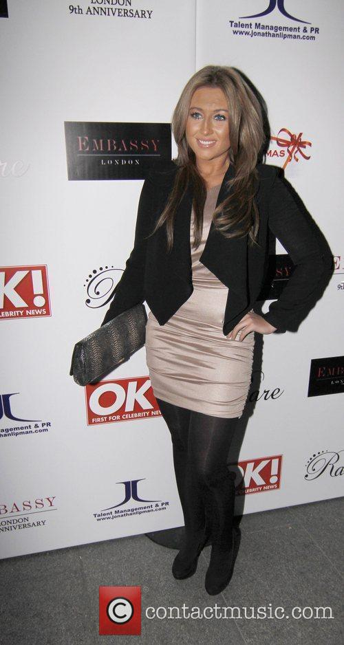 Lauren Goodger at the Christmas party held at...