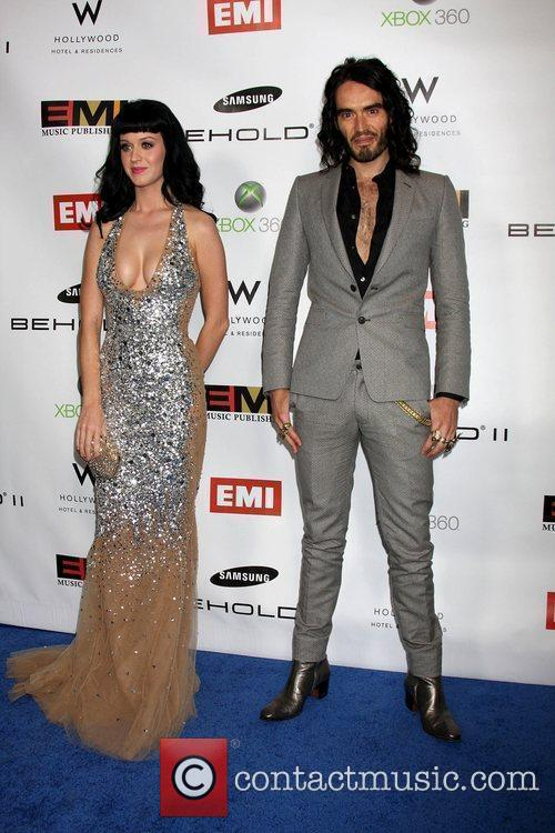 Katy Perry and Russell Brand The EMI Post...