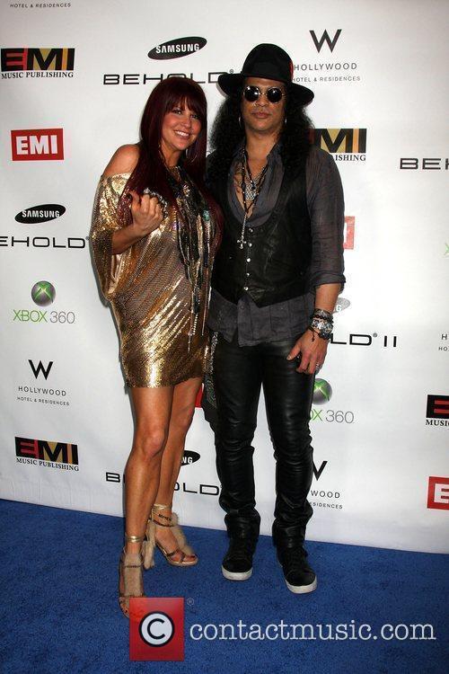 Slash and Perla Hudson The EMI Post Grammy...