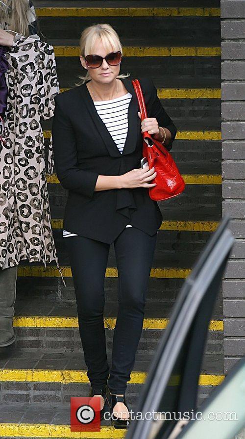 Emma Bunton leaving the GMTV studios