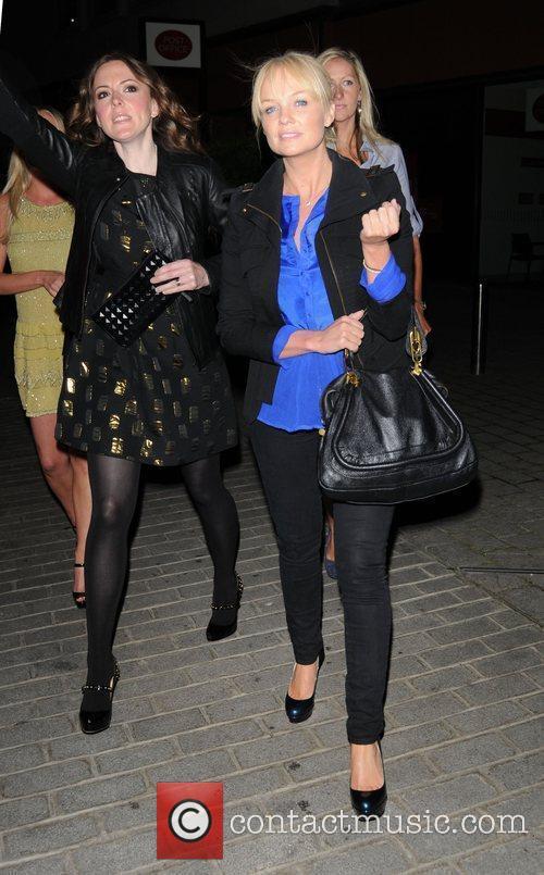 Emma Bunton leaving Zuma restaurant in London