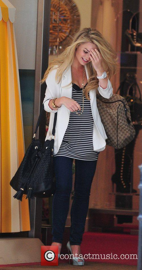 Emma Rigby leaving the Christian Louboutin store London,...