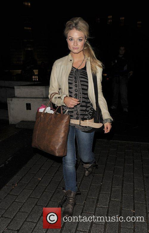 Former Hollyoaks star Emma Rigby leaves the Trafalgar...