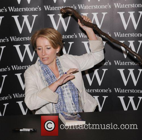 Emma Thompson signs copies of her new book...