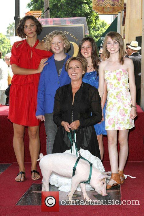 Maggie Gyllenhaal, Eros Vlahos, Rosie Taylor-Ritson, Lil Woods, Emma Thompson, Star On The Hollywood Walk Of Fame