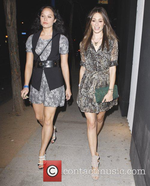 Emmy Rossum  and a friend are seen...