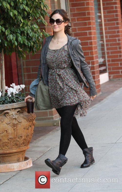 Emmy Rossum grabs an iced drink whilst out...