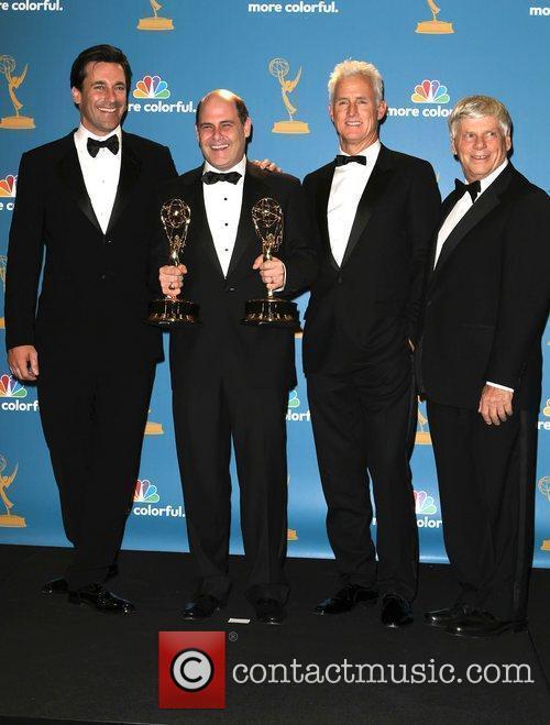 Jon Hamm, John Slattery and Robert Morse 2