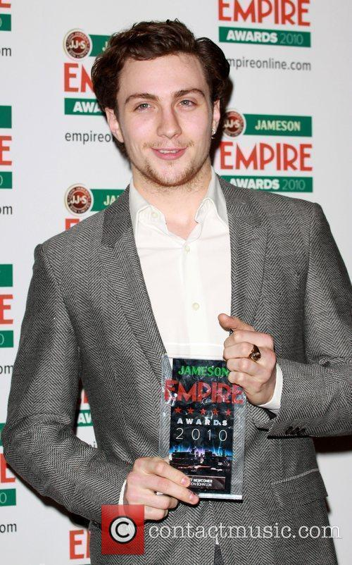 Aaron Johnson winner of Best Newcomer The Empire...