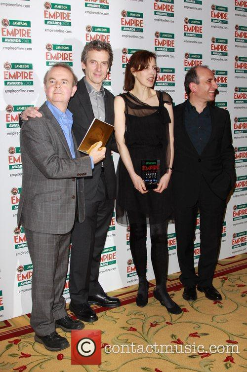 Ian Hislop, Peter Capaldi, Gina Mckee and Director Armando Iannucci Pose With The Award For Best Comedy 2