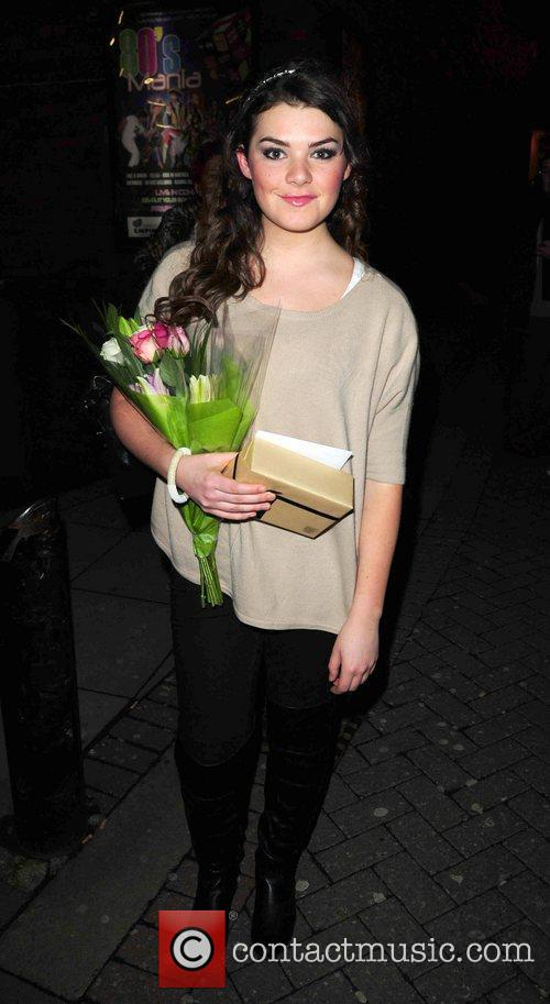 Dani Rayner leaves the Liverpool Empire Theatre after...
