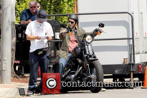 Cast members on the set of 'Entourage' filming...
