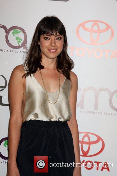 Aubrey Plaza arrives to the 2010 Environmental Media...
