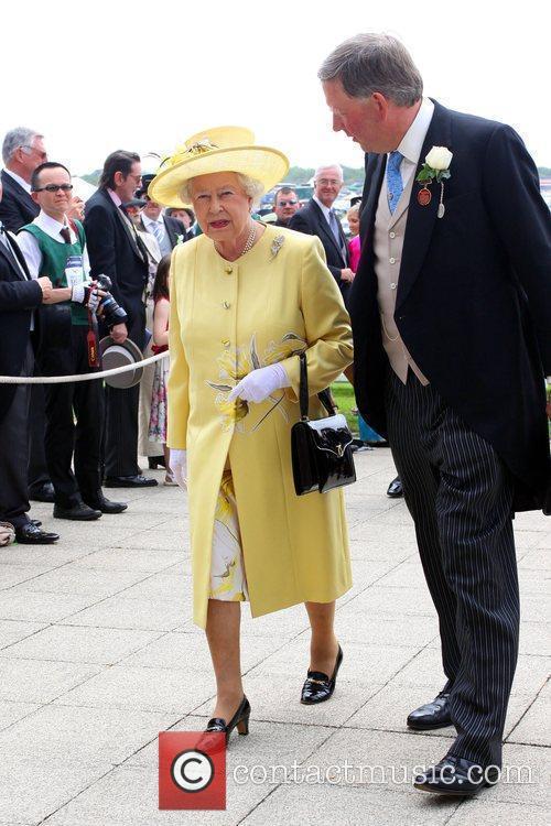 The Queen arrives at Epsom Racecourse Epsom, Surrey