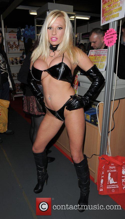 Michelle Thorne Erotica 2010, held at Kensington Olympia...
