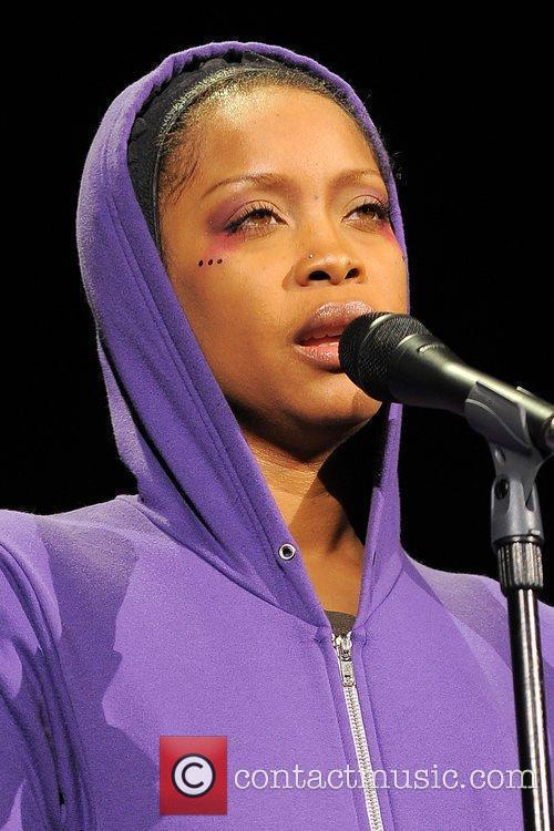 Erykah Badu performing live in concert at the...