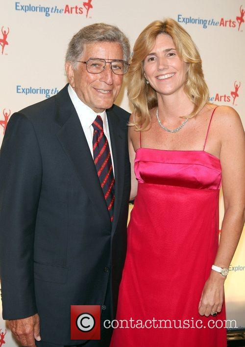Tony Bennett and Susan Benedeto attend the Exploring...