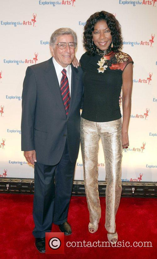 Tony Bennett; Natalie Cole  attend the Exploring...