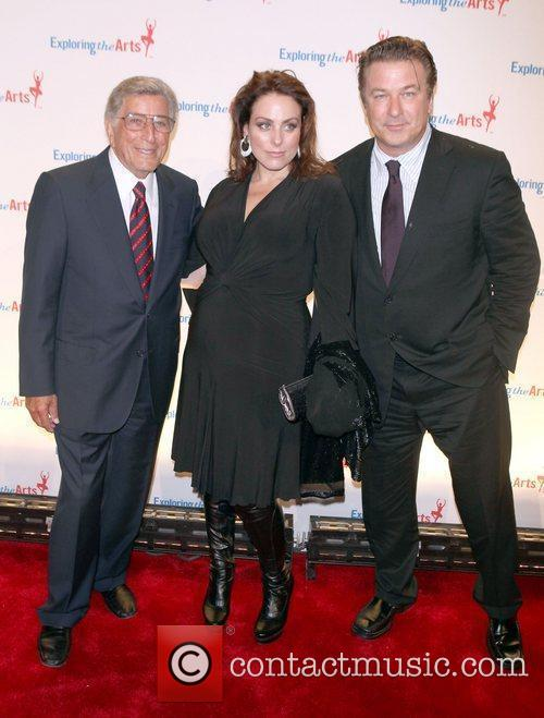 Tony Bennett and Alec Baldwin attend the Exploring...