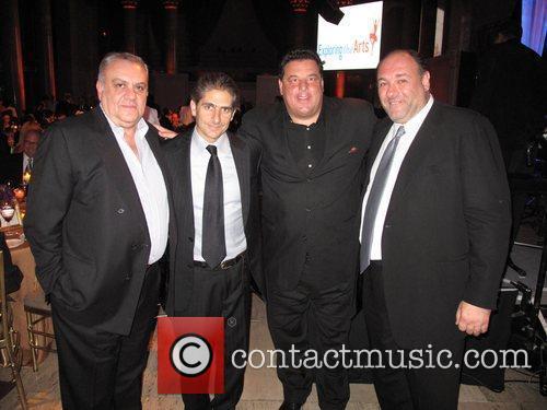 Michael Imperioli, James Gandolfini, Steve Schirripa and Wall Street 1