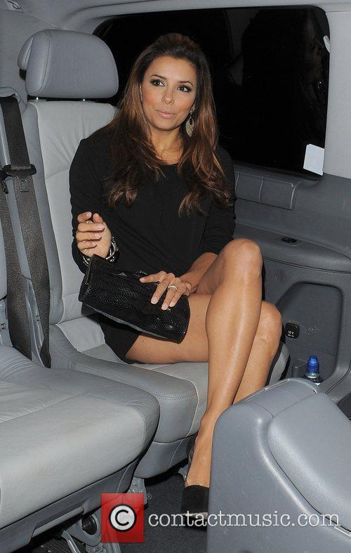 Eva Longoria arriving back at her hotel, after...