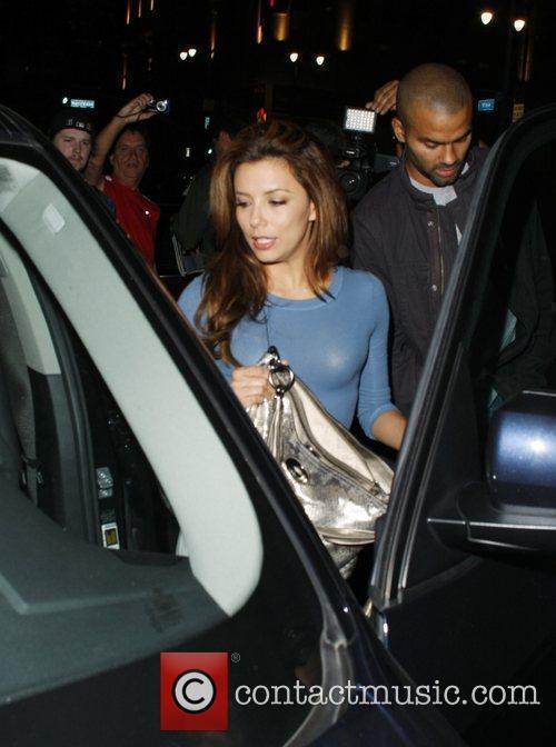 Eva Longoria Parker and Tony Parker leaving Katsuya...