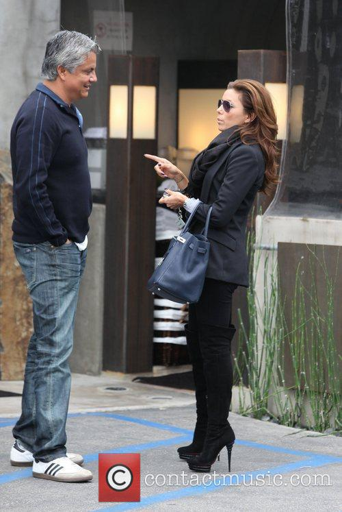 Eva Longoria Parker seen out and about in...