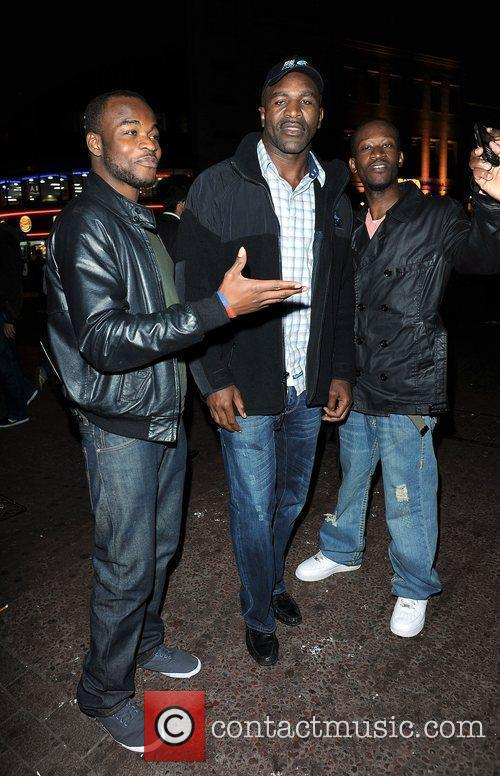 Boxer Evander Holyfield out and about in Leicester...
