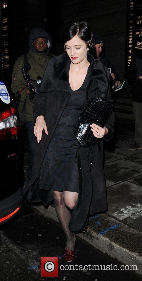 Leaving the Evening Standard British Film Awards 2010...