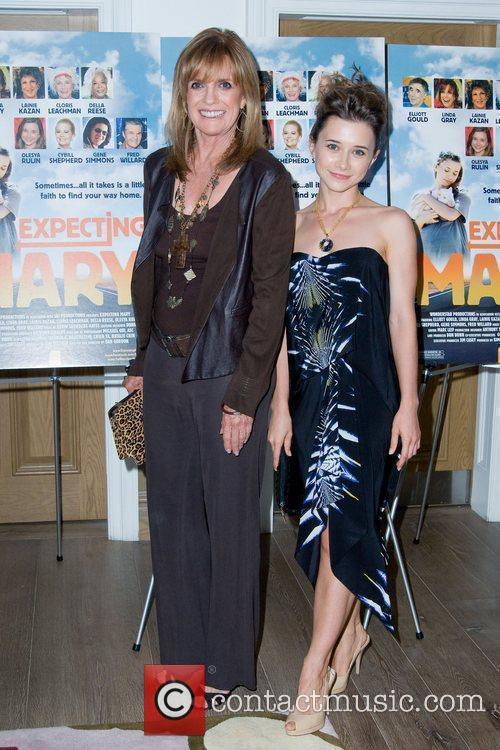 Linda Gray and Oleysa Rulin Movie Premiere of...