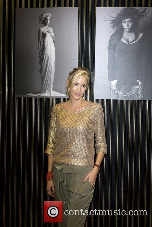 Fairtrade Fashion ambassador Lisa Butcher stands by a...